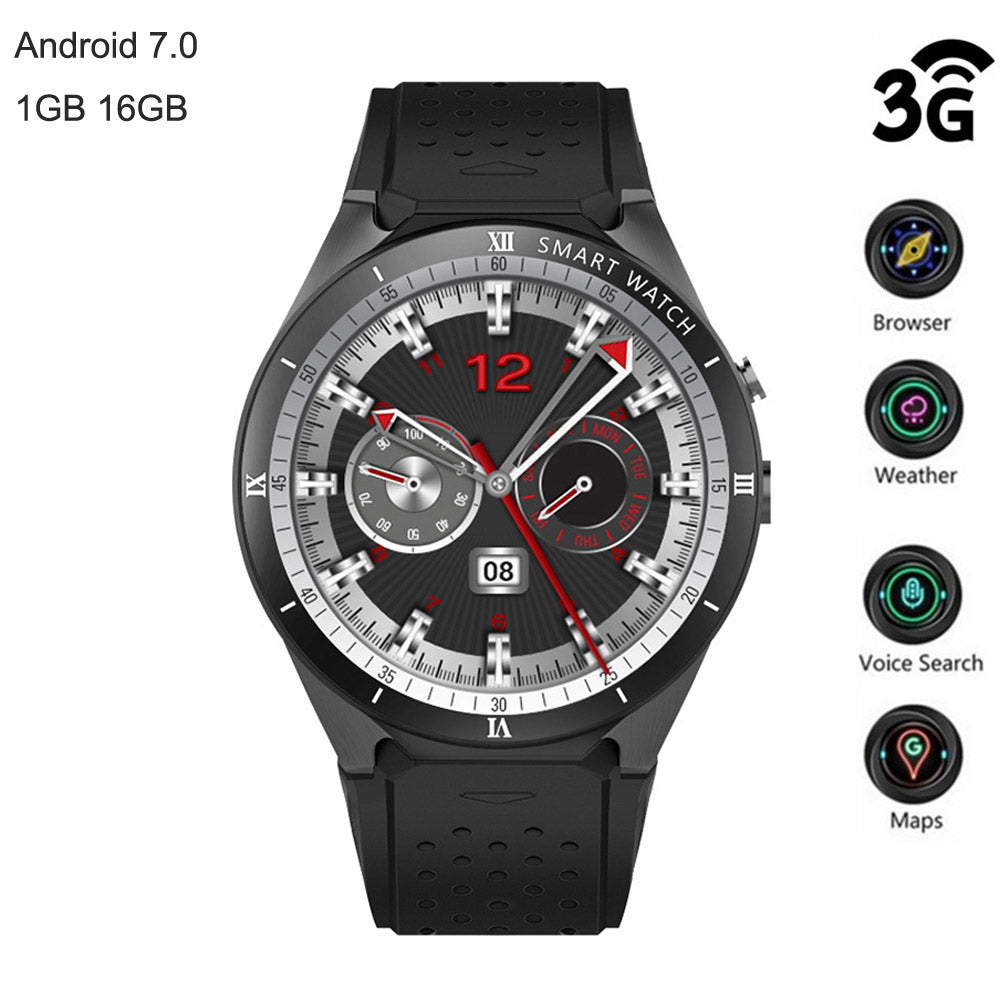 KW88 Pro 3G Smartwatch Phone 1.39 Inch AMOLED 1GB 16GB GPS Heart Rate Monitor Waterproof