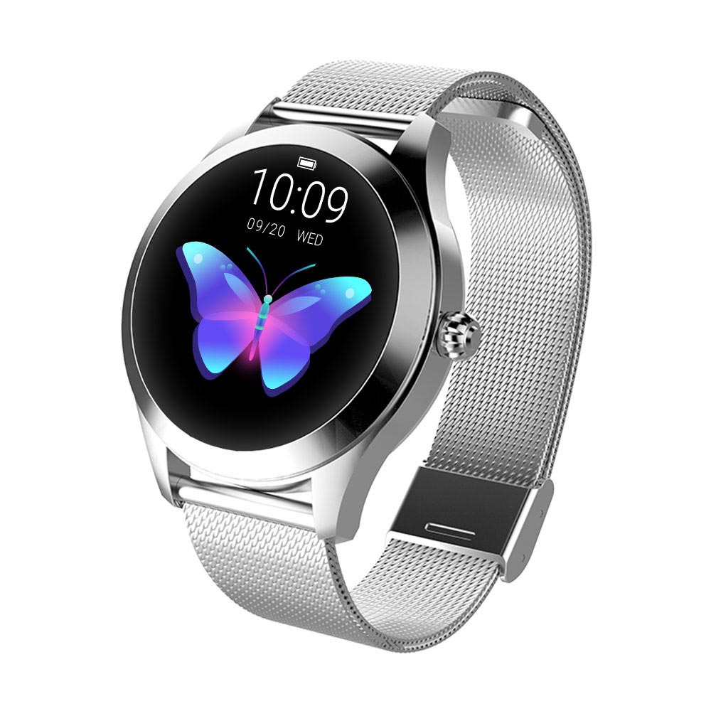KW10 IP68 Waterproof Bluetooth 4.0 Heart Rate Ladies Smart Watch