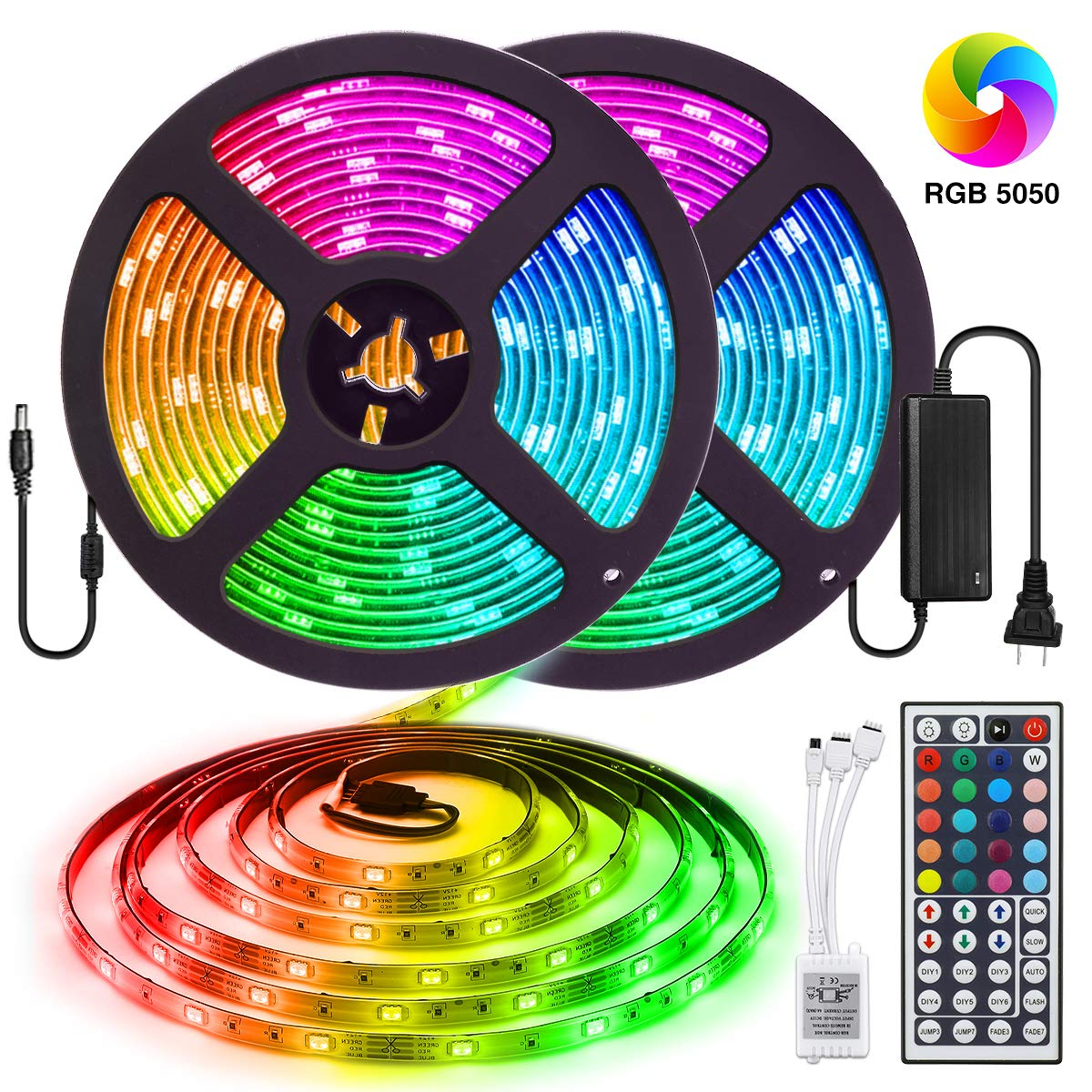 32.8ft/10M Waterproof Rope Lights Color Changing Flexible Tape Light Kit