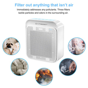 AFBEST 35m² Large Room Air Purifier with True HEPA & Active Carbon Filters, Home Air Cleaner for Allergies and Pets