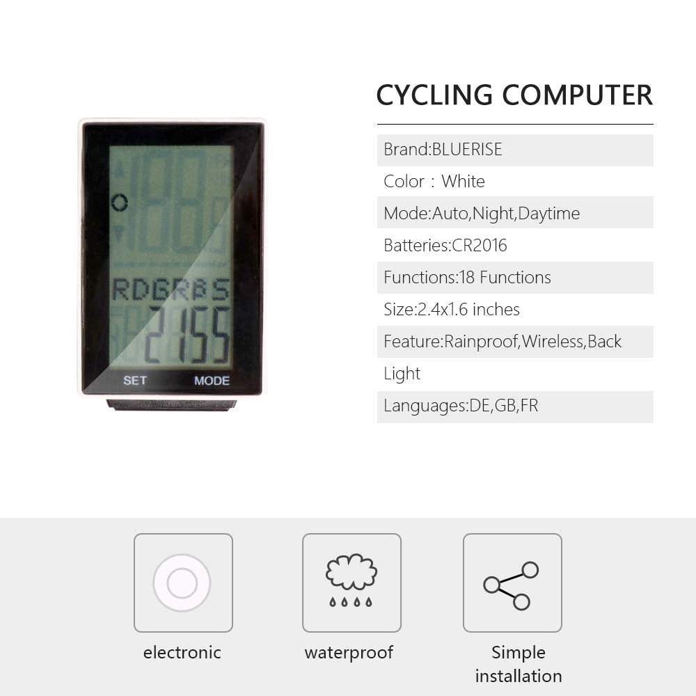 Cycling Computer Wireless Rainproof Multi-Function Bike Computer