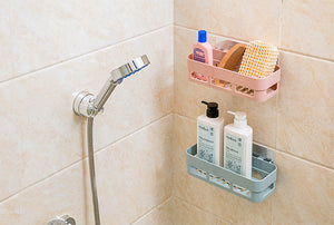 Bathroom Shelf Adhesive Badkamer Rek Storage Rack Corner Shower Shelf Kitchen Home Decoration Bathroom Accessories