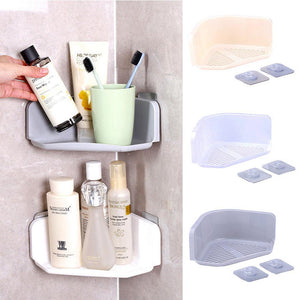 Suction Cup Corner Shower Shelf, Bathroom Shampoo Shower Shelf Holder, Kitchen Storage Rack Organizer
