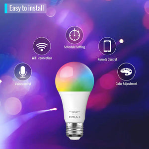 Dimmable E26 LED Compatible with Amazon Alexa Google Home Assistant and IFTTT Smart Multicolor Bulb