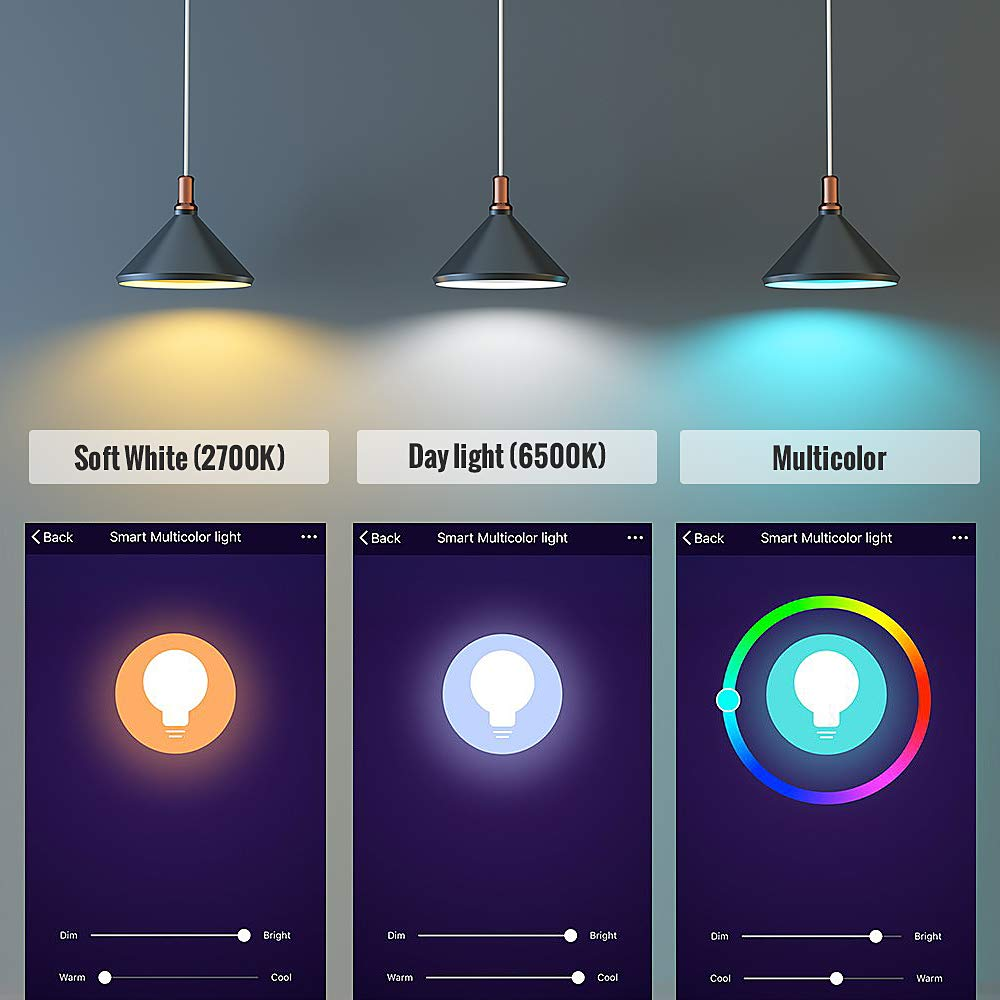 Dimmable E26 LED Compatible with Amazon Alexa Google Home