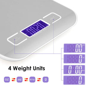 Digital Multifunction Kitchen Scale with LCD Display Tare Function