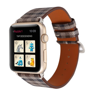 Apple Watch Band Tartan Plaid Style Replacement Strap
