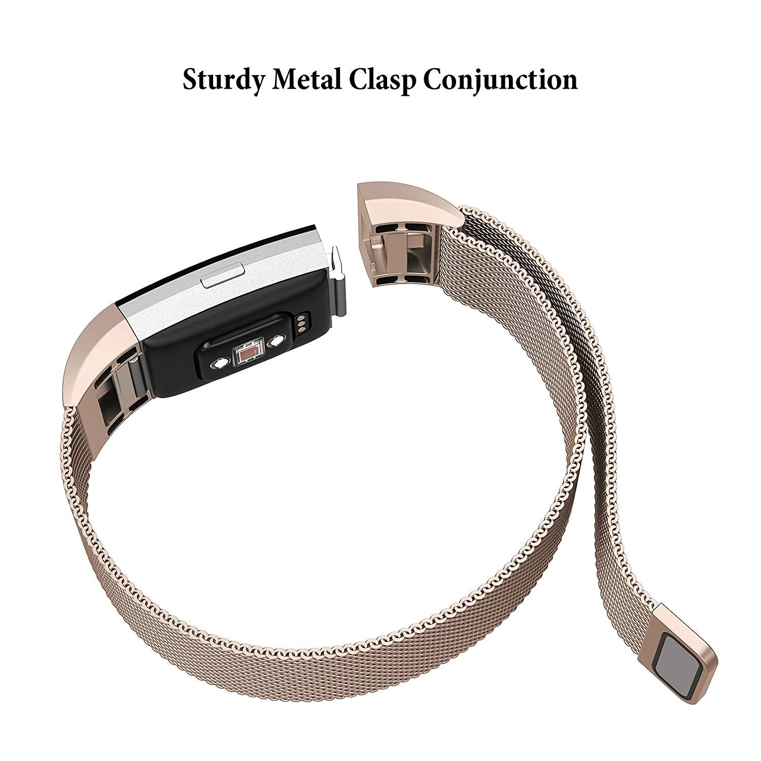 Fitbit Milanese Stainless Steel Metal Magnetic Replacement Wristband
