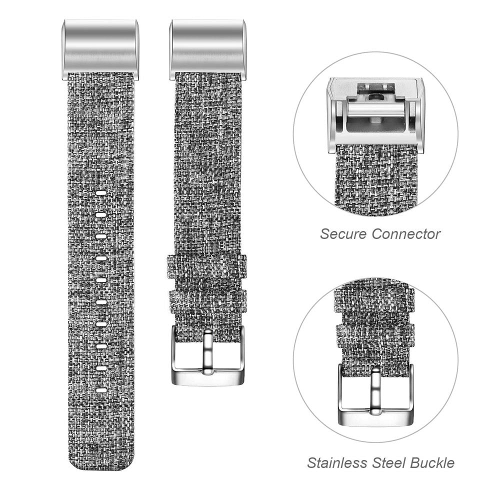 Fitbit Charge 2 Bands, Canvas Fabric Soft Classic Replacement Woven Straps Wristband for Fitbit Charge 2 HR Fitness Tracker