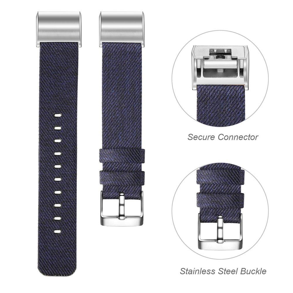 Fitbit Charge Classic Genuine Canvas Wristband Metal Connectors  Replacement Band