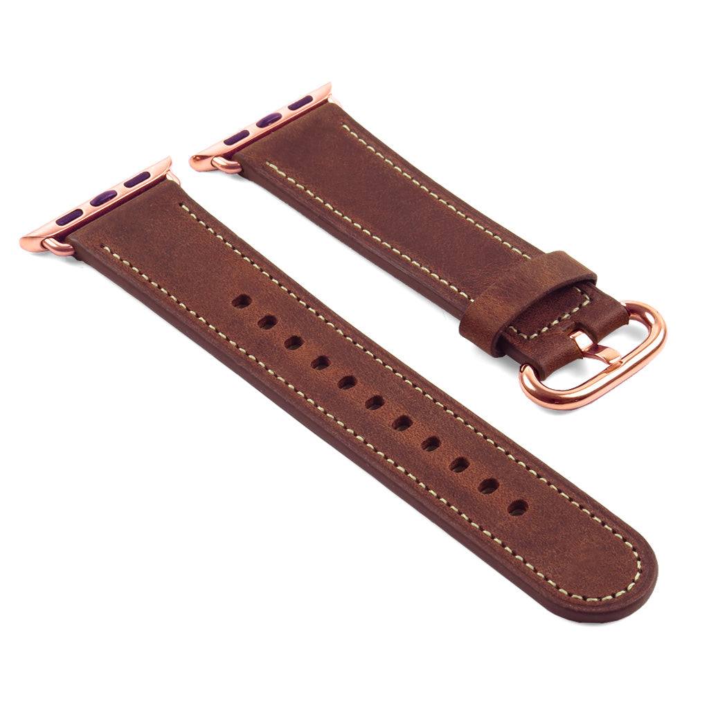 ANVEY Distressed Leather Strap for Apple Watch