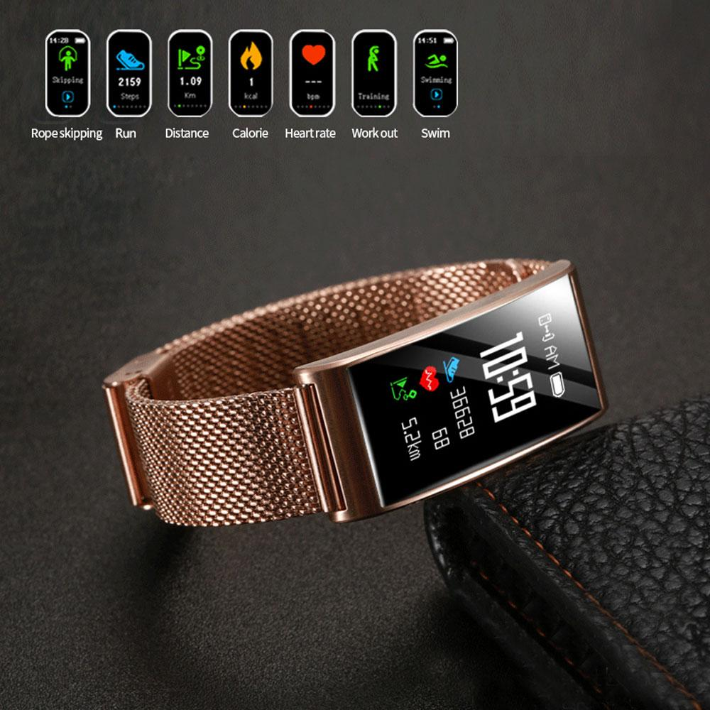 AY02 Smart Wristbands Watch Fitness Tracker Blood Pressure Heart Rate Monitor IP68 Waterproof Fitness Tracker