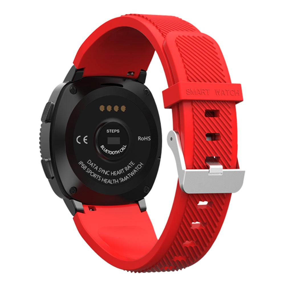 L2 Fitness Tracker with Pedometer Notifications Music Control Blood Pressure Heart Rate Monitor Camera Touch Screen Smart Watch