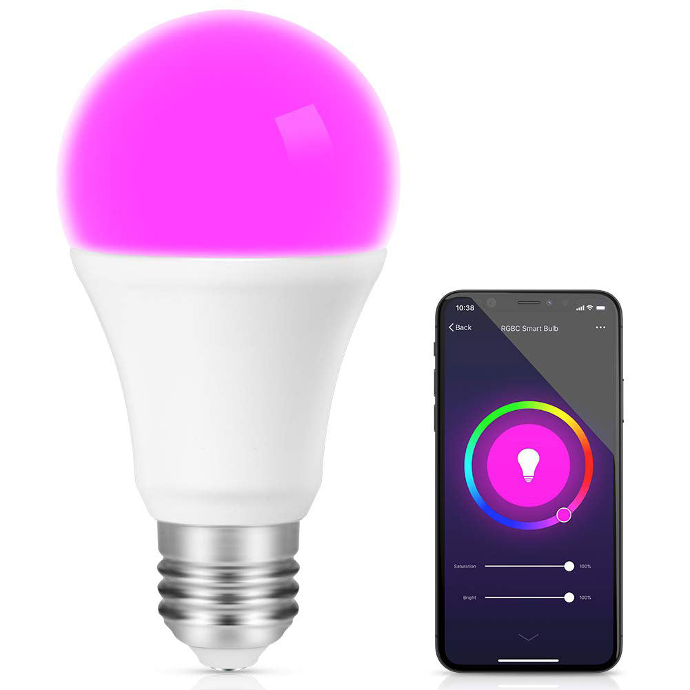 E27 WiFi Smart LED Multicolor Light Bulb Compatible with Alexa Echo Google Home and IFTTT