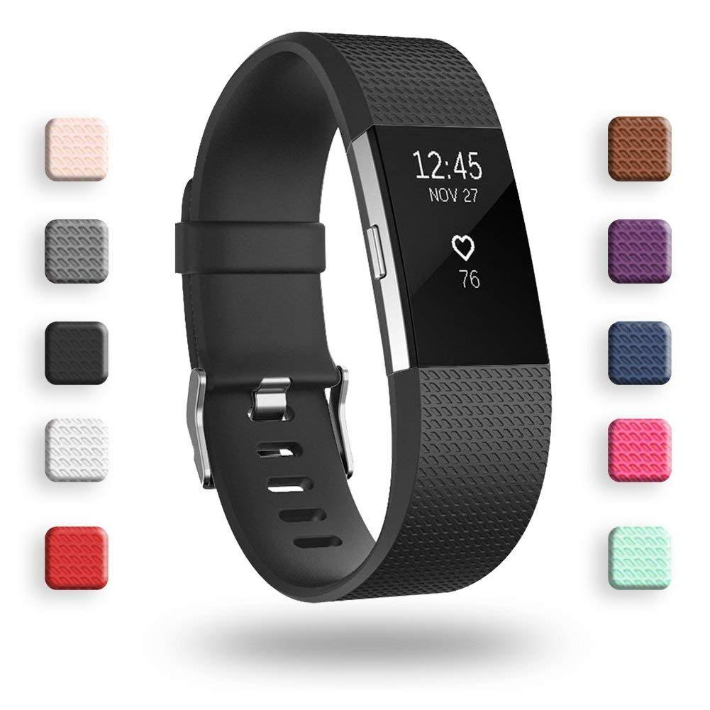 Fitbit Charge 3 Bands, Adjustable Replacement Sport Strap Smartwatch Fitness Wristbands for Fitbit Charge 3 Fitness Tracker
