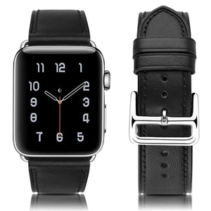 Compatible with Apple Watch Band 38 40 42 44mm Genuine Leather Replacement iwatch Bands for Series 4 3 2 1