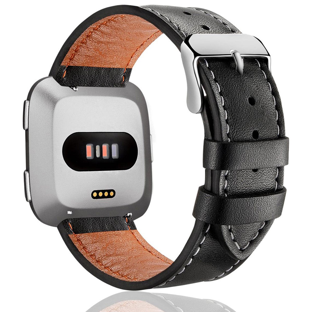 Genuine Leather Wristband for Fitbit Versa Smartwatch