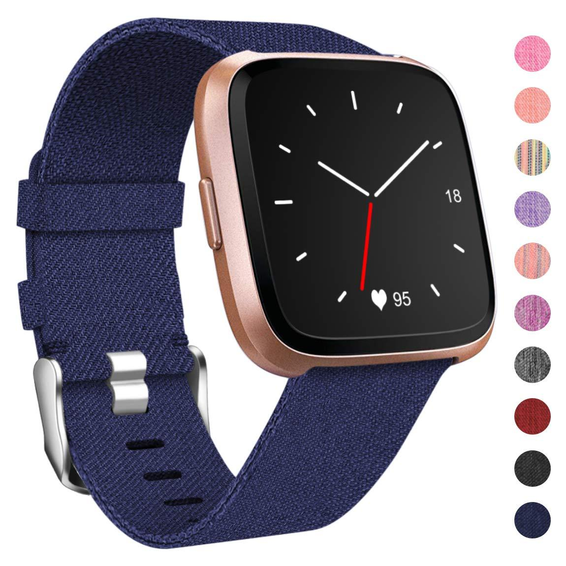 Fitbit Versa Woven Fabric Accessories Strap Wrist Band
