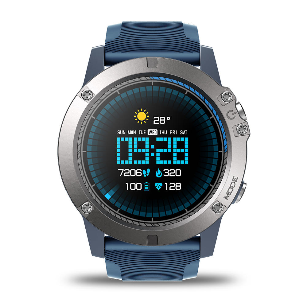 Zeblaze VIBE 3 Pro Full Round Touch Real-time Weather Optical Heart Rate All-day Tracking Smart Watch