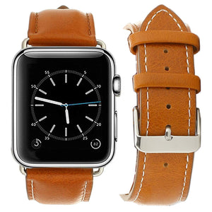 Compatible with Apple Watch Band 38mm 40mm 42mm 44mm Genuine Leather Replacement iwatch Bands for Series 4 3 2