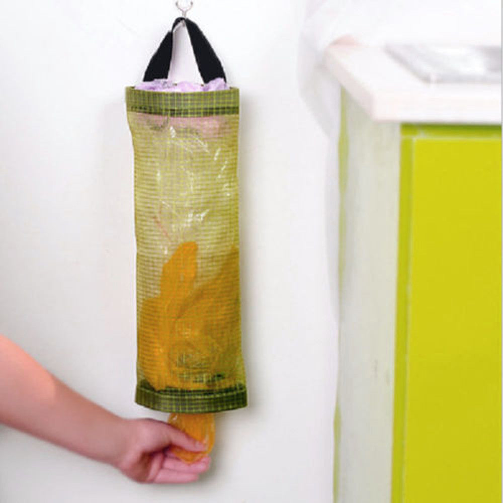 Home Grocery Wall Mount Storage Dispenser Plastic Kitchen Organizer Bag