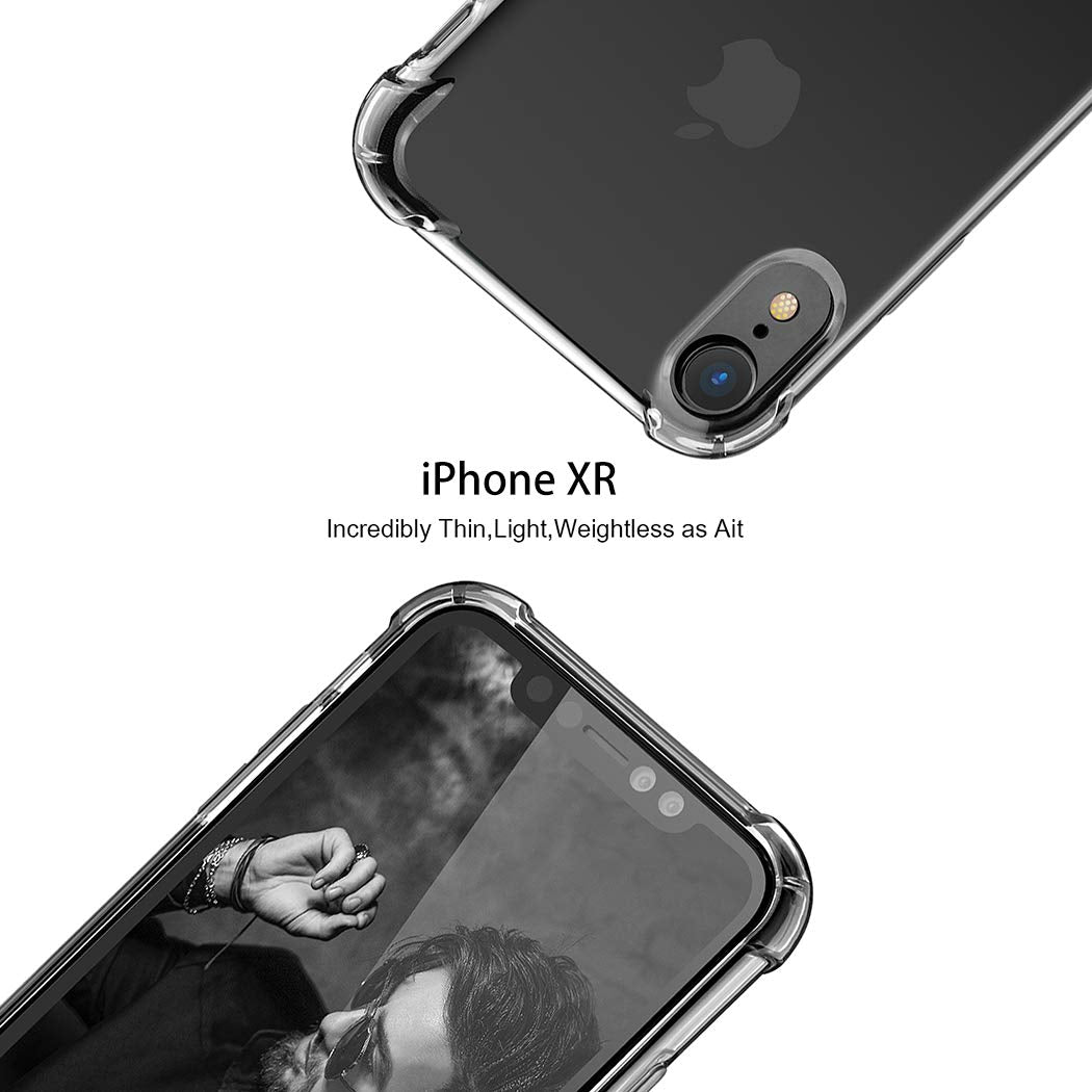 Slim Fit Premium Hybrid Shock Absorbing & Scratch Resistant TPU Bumper Clear Case Cover for iPhone Xr Xs Max 7 8 6S