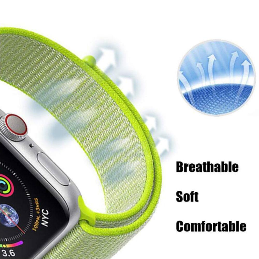 Apple Watch Band Soft Nylon Sport Loop Replacement Band Compatible for iWatch Series 1 2 3 4