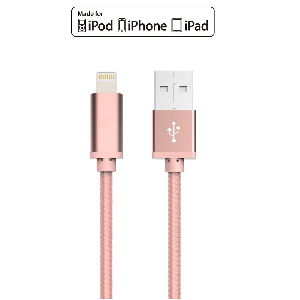 iPhone Charger Lightning Cable Durable Braided Apple Lightning USB Cord for Latest iOS System
