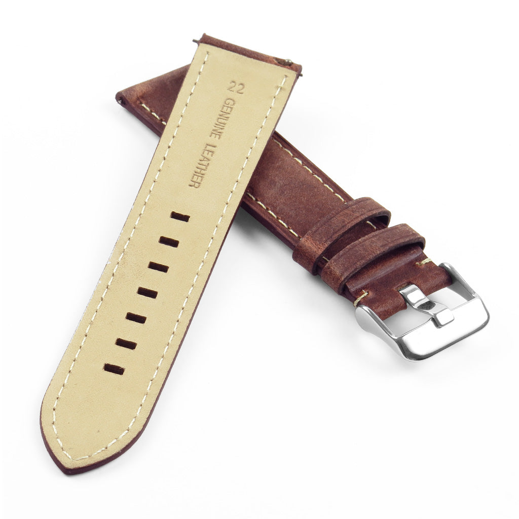 Vintage Italian Leather Quick Release Strap 20mm for Garmin Vivoactive 3 / Garmin Vivomove / Samsung Gear Sport/ Samsung Gear S2 GM2700
