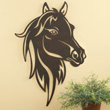 Horse Head Brown Metal Wall Hanging Art - Clearance SALE