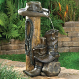 Hand-painted Cowboy Western Art - Water Fountains - Sale 67% Off - CowboyOK.Com