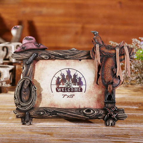 Handmade Saddle Hat Rope - Photo Picture Frames - Clearance SALE
