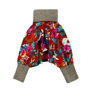 Unisex Kids Harems Pants Red Hawaii | Josiah Amari