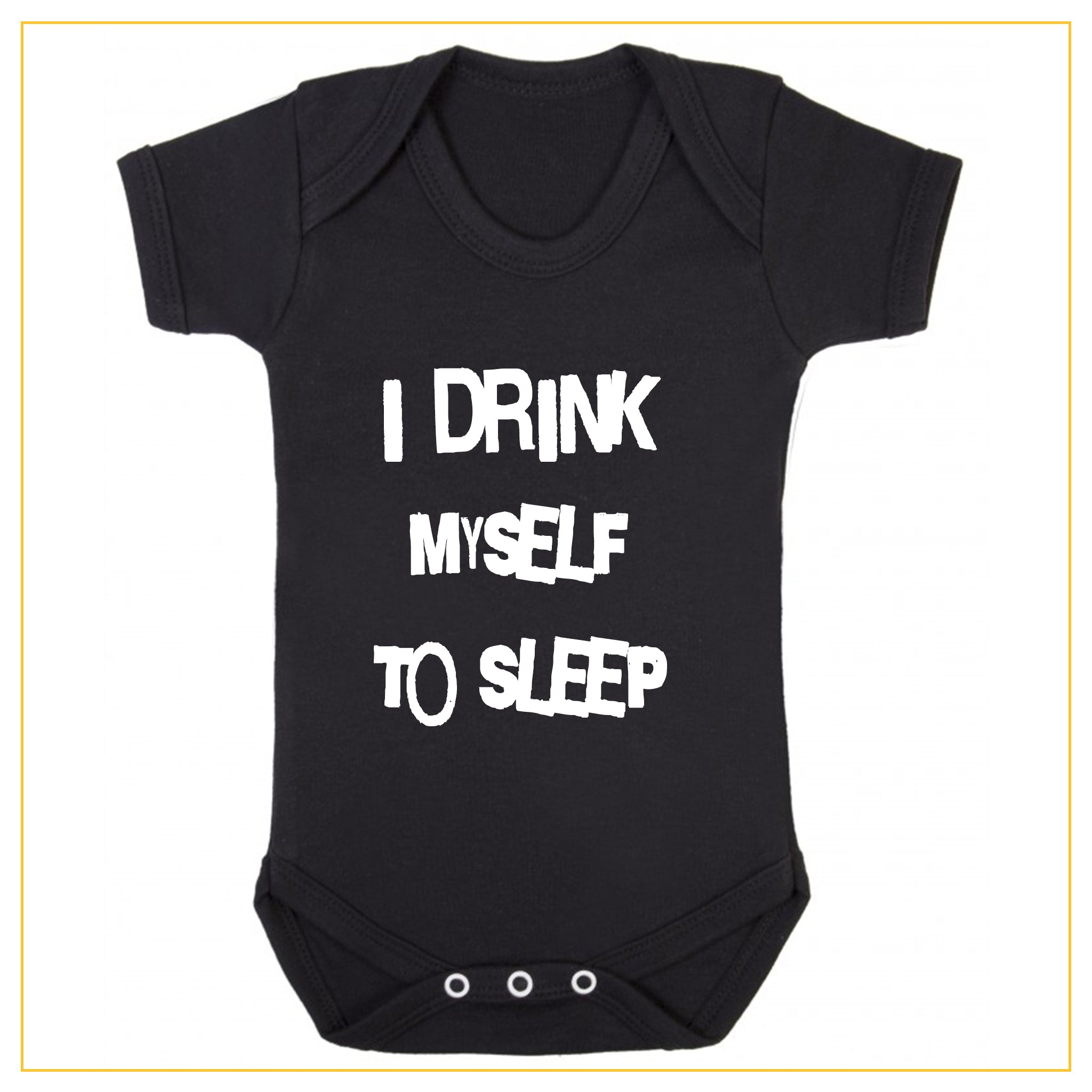 I drink myself to sleep baby onesie in black