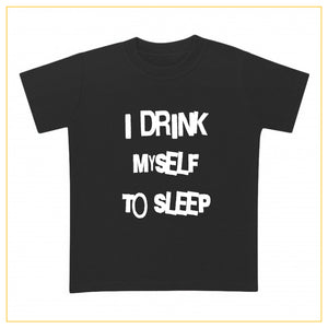 I drink myself to sleep baby t-shirt in black