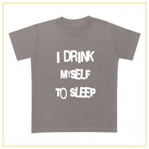 I drink myself to sleep baby t-shirt in grey