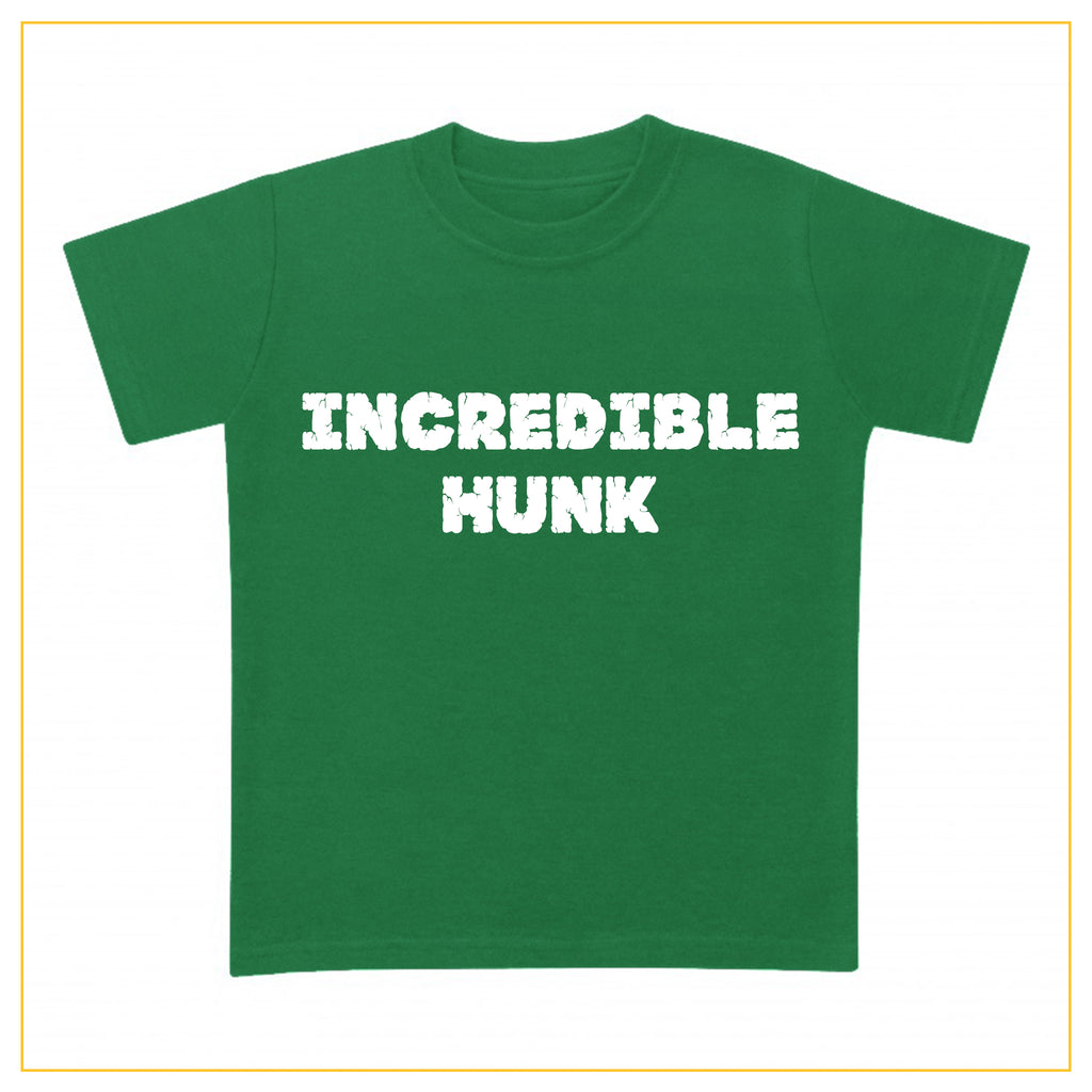 incredible hunk green t-shirt for boys