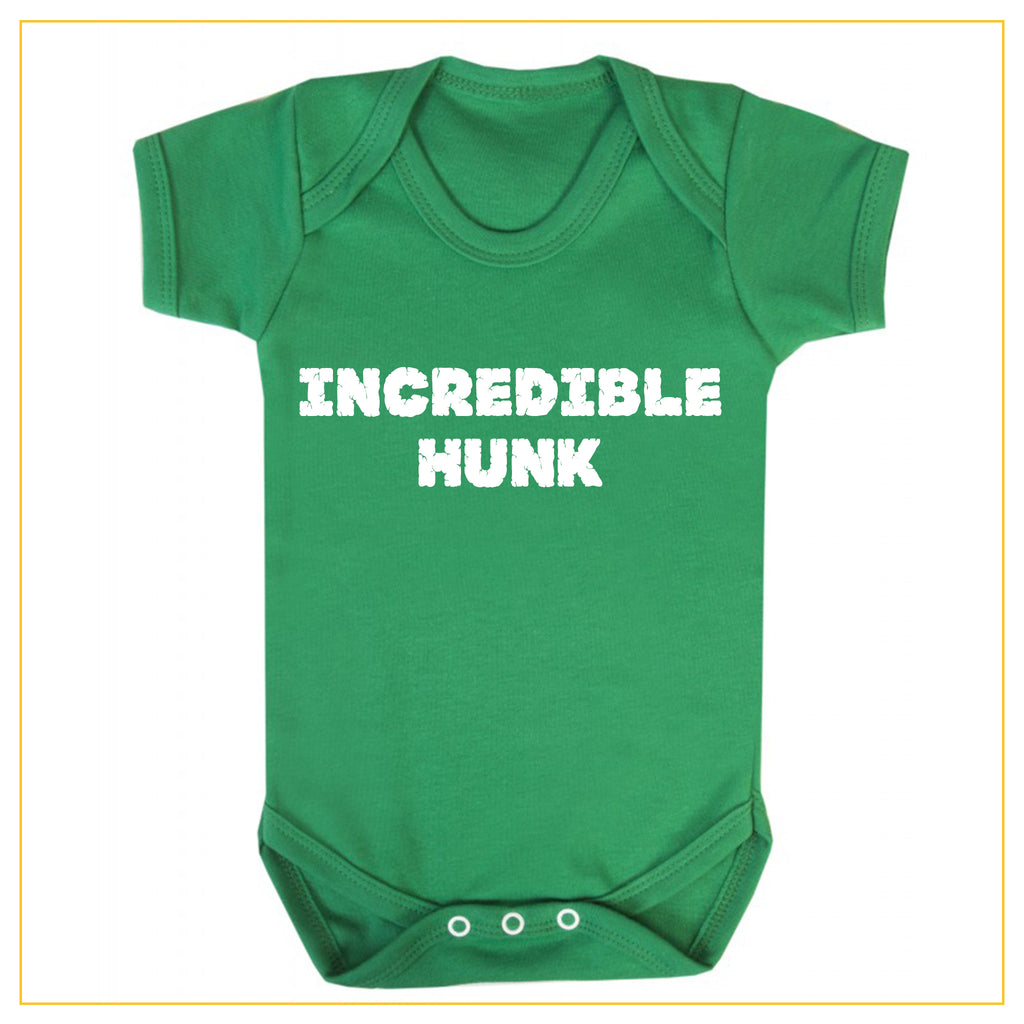incredible hunk baby boy novelty onesie in green