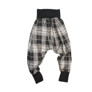 Unisex Drop Crotch Trousers Check | Josiah Amari