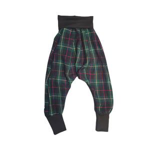 Drop Crotch Trousers Green Tartan | Josiah Amari