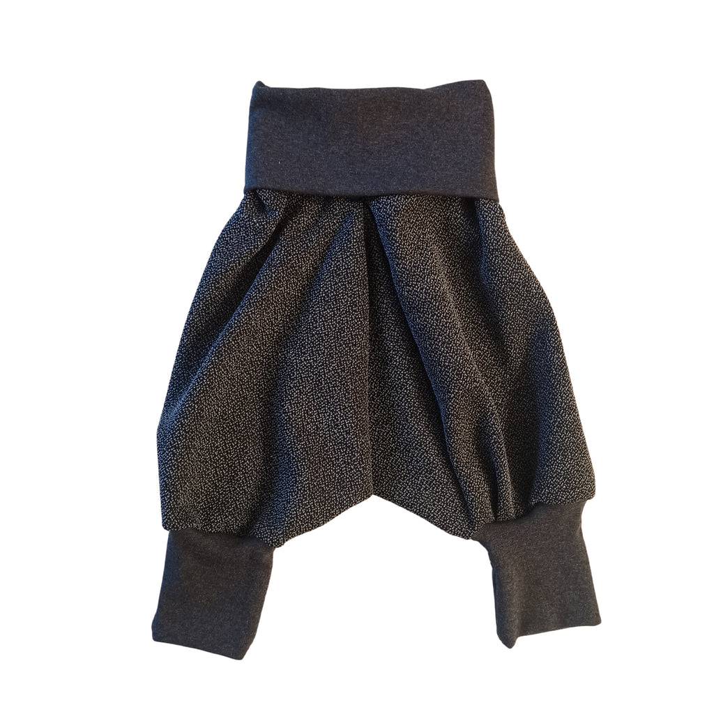 Kids Harems Pants Black & White Speck | Josiah Amari