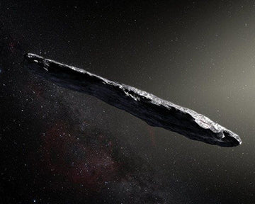"Artist's impression of the first interstellar asteroid/comet, ""Oumuamua"""