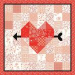 Arrow Heart Quilt and Table Ru