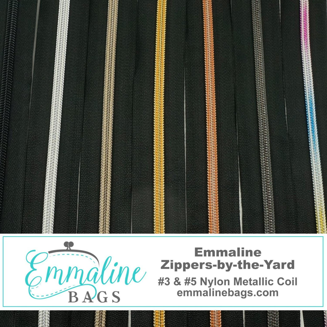 Emmaline Zipper #5 Rainbow - BLK