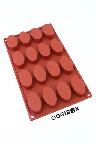 Image of Oggibox 16-Cavity Oval Silicone Mold