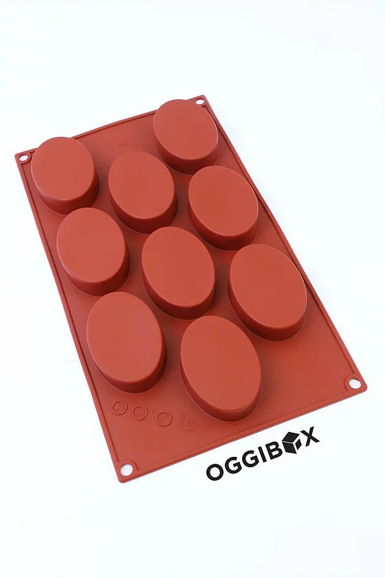 Oggibox 9-Cavity Oval Silicone Mold