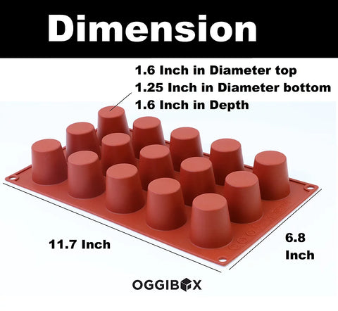 Oggibox 15-Cavity Popover Muffin Silicone Mold (large)