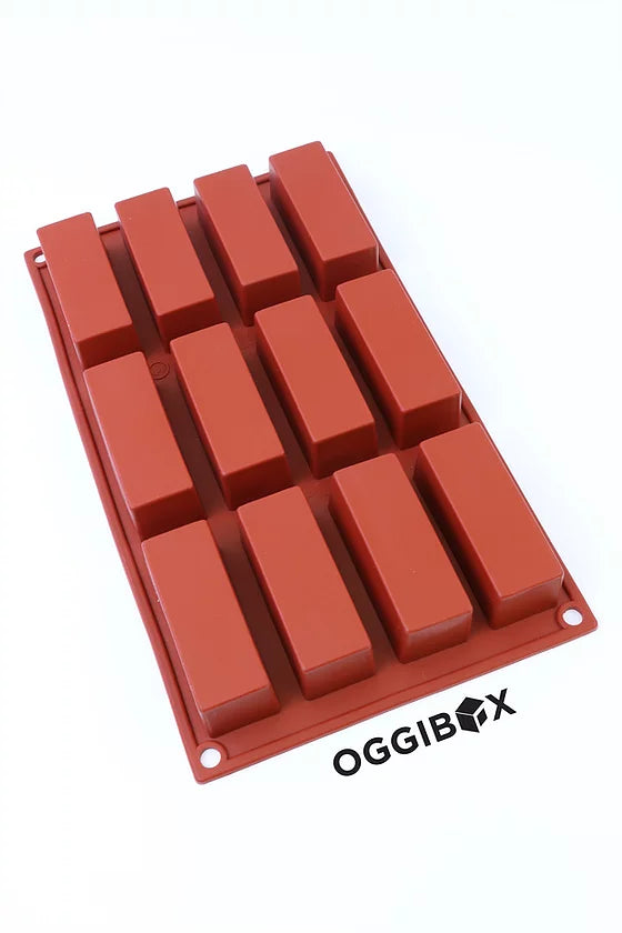 Oggibox 12-Cavity Rectangle Silicone Mold