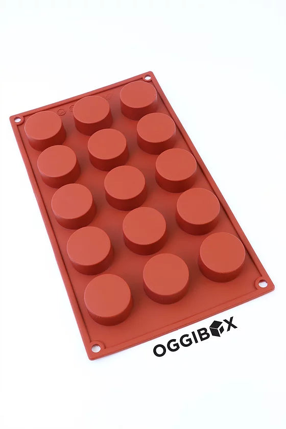 Oggibox 15-Cavity Flat Circle Silicone Mold