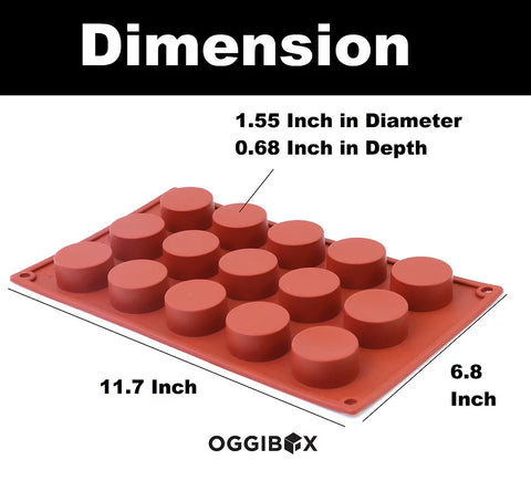 Image of Oggibox 15-Cavity Flat Circle Silicone Mold